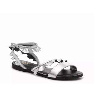 Mix No 6 Ellora Silver Ruffle Sandal 7